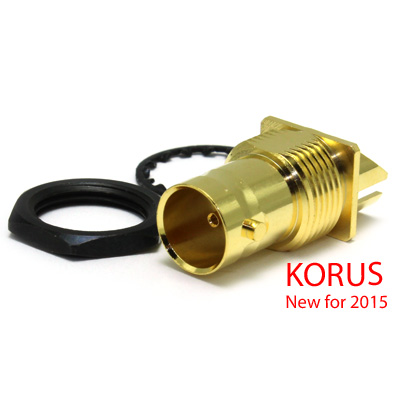 'KORUS' 6GHz  BNC End Launch Bulkhead Jack True 75 Ohm (1.6mm board) - Image 1