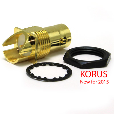 'KORUS' 6GHz  BNC End Launch Bulkhead Jack True 75 Ohm (1.6mm board) - Image 3