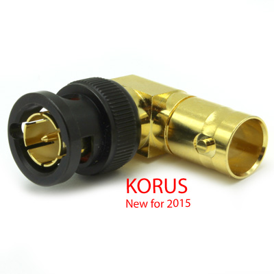 'KORUS' 6GHz BNC Right Angle Plug to Jack Adaptor, True 75 Ohm 12G  - Image 1