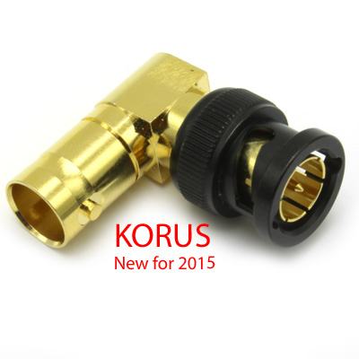 'KORUS' 6GHz BNC Right Angle Plug to Jack Adaptor, True 75 Ohm 12G  - Image 2