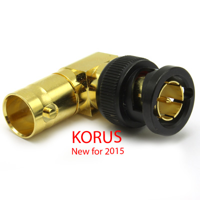 'KORUS' 6GHz BNC Right Angle Plug to Jack Adaptor, True 75 Ohm 12G  - Image 3