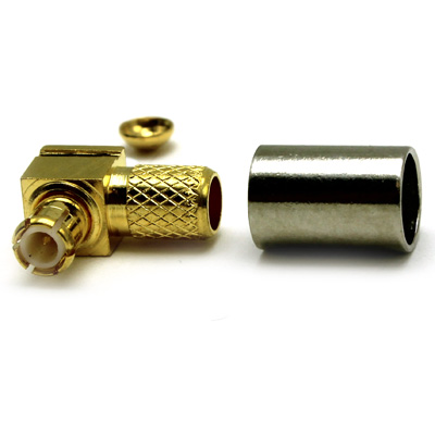 MCX Right Angle Solder / Crimp Plug - Image 2