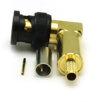 BNC 12GHz Right Angle Crimp / Crimp Plug - Image 3