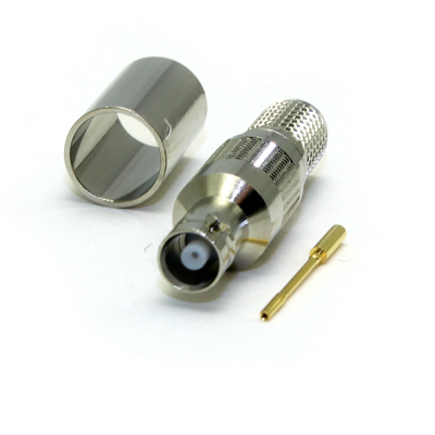 Micro BNC Straight Crimp / Crimp Jack 75 ohm 12GHz - Image 2