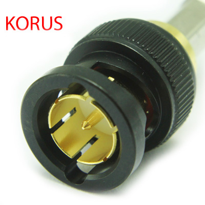 10-005-W126-FA-Bk 'KORUS' Ultra HD 12G BNC Straight Crimp / Crimp Plug True 75 Ohm (Bulk Pack)