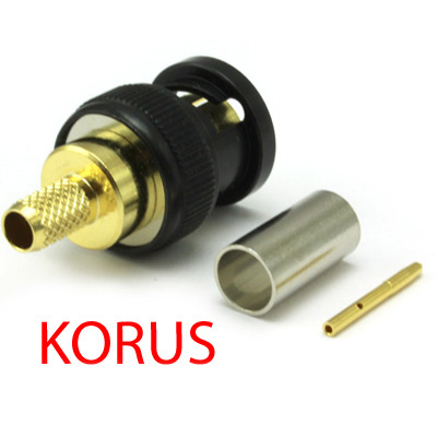 'KORUS' Ultra HD 12G BNC Crimp / Crimp Plug True 75 Ohm  - Image 4