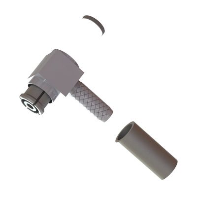56-105-Q3-AA - SMP Non Magnetic Right Angle Solder / Crimp Plug