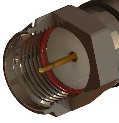 Plug Type Connector f Type 75 Ohm Plug Terminator