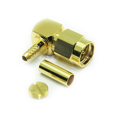30-105-D3-AE - SMA Right Angle Solder / Crimp Plug